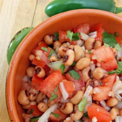 Pico Black-Eyed Peas Recipe - Pico de gallo and black-eyed peas come together in the surprisingly delicious marriage of flavors for a hearty side dish.