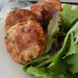 Chicken and Feta Burgers Recipe - Ground chicken makes for great, lean burgers with the addition of olive, oregano, and feta cheese.