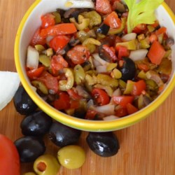 Fabulous Olive Salsa by James Recipe - It's easy to use your food processor to whip up a zingy salsa made from black and green olives, white onions, and green chiles.
