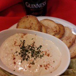 Dubliner and Guinness(R) Recipe - Serve this Irish beer and cheese dip with pretzels for a tasty snack. You can use any Irish cheese you prefer if Dubliner isn't available to you.