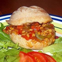 Barbeque Tempeh Sandwich