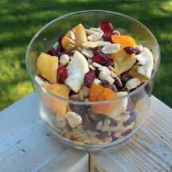Terrific Trail Mix Recipe - Fruit, seeds, and nuts are mixed together in this flavorful snack mix.
