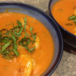 Spicy Coconut Shrimp Bisque Recipe - This smooth, spicy shrimp bisque uses coconut milk to offset its heat.