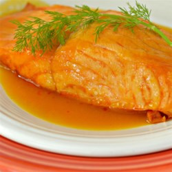 Orange Salmon II Recipe - This quick and easy salmon recipe has only three ingredients: salmon, orange juice, and fresh dill. I learned this recipe from my mother, and it is one of my husband's favorites.