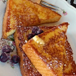 Vanilla-Almond Spiced French Toast Recipe - This French toast recipe uses vanilla and almond extracts to deliver a sweet and flavorful version of the breakfast favorite.