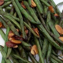 Simply-Delicious Tamari Almond Green Beans Recipe - I whipped this together for my wife one night and she keeps asking for it! It's a simple dish to make. The tamari and almonds go great with the green beans.  I do not like green beans, but tend to enjoy a couple sometimes.