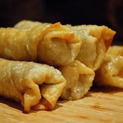 Beef Egg Rolls Recipe - Crispy fried morsels stuffed with ground beef, cabbage, and delicious seasonings. A personal creation of mine, that goes well with any Chinese dish. The sherry makes it better.