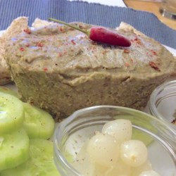 Lentil Pate Recipe - Truffle oil adds deep, earthy goodness to this lentil pate.