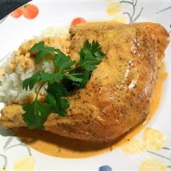 Chicken with Chipotle Recipe - Chicken legs are roasted, then simmered in a spicy, chipotle cream sauce for a true Mexican chicken recipe. Serve it with rice and salad, and don't forget the warmed corn tortillas!