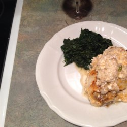 Baked Stuffed Flounder Ricardo Recipe - This baked stuffed flounder is easy to make ahead and serve to your guests. The sage stuffing and subtly flavored cream sauce bring accolades from seafood lovers!