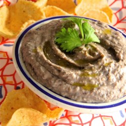 Quick Black Bean Hummus Recipe - Black beans make a delicious and healthy alternative to the usual garbanzo beans in hummus - your vegetarian friends and family will thank you!