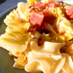 My Grandmother's Cabbage and Noodles Recipe - A vintage recipe for cabbage and noodles adds bacon for a savory flavor.