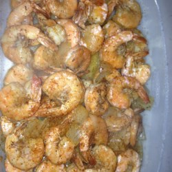 Texas Boiled Beer Shrimp Recipe - Quick and easy recipe for shrimp cooked in crab boil-seasoned light beer.