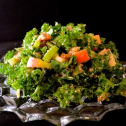 Waldorfy Kale Salad Recipe - When it's time for kale, it's time for kale salad! Try this recipe with apple, celery, and walnuts dressed in a homemade vinaigrette.