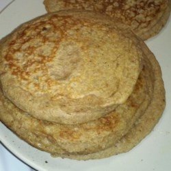 Vegan Whole Wheat Apple Pancakes Recipe - Vegan whole wheat apple pancakes, made with coconut oil and almond milk, are a delicious alternative when you are avoiding dairy products.
