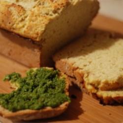 Irish soda bread with pistacio pesto