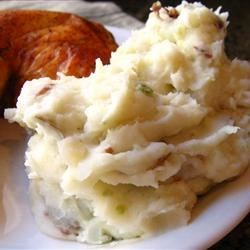 Red Garlic Mashed Potatoes Recipe and Video - These red-skinned mashed potatoes are just the creamiest. They are always a hit with company. Just a warning: they are addictive!