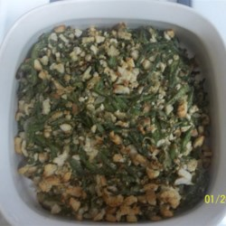 French Green Bean Stuffing Recipe - Garlic seasoning and green beans go great with stuffing!