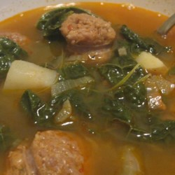 Comfort Soup a la Montreal Recipe - This amazingly fast, spicy, and delicious kale, potato, and Italian sausage soup is a family recipe given to me by my friend from Montreal.