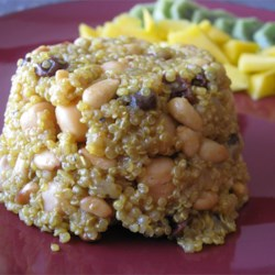 Spiced Quinoa Recipe - This recipe combines pungent Mediterranean and Indian flavors for a quick and delicious side dish.