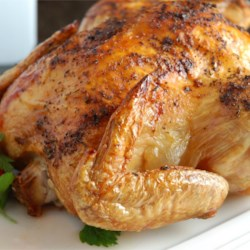 Spicy Rapid Roast Chicken Recipe - Well-seasoned chicken blasted with high cooking heat for a speedy roast that still leaves the bird moist and flavorful.