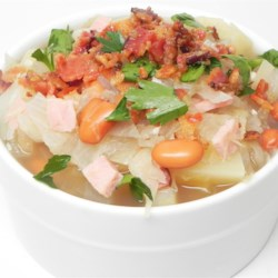 German Sauerkraut Soup Recipe - This German New Year's soup contains pork and sauerkraut for good luck in the new year.  It's wonderful with fresh warm bread. This recipe has been a family tradition for forty years
