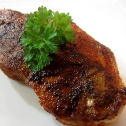 """Sorta Blackened Chile-Rubbed Pork Recipe - Your smoked detector will be spared when you use Chef John's recipe for """"sorta"""" blackened chile-rubbed pork chops."""