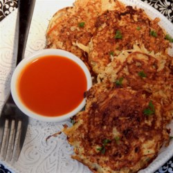 Simple Parsnip Pancakes Recipe - Parsnip pancakes with rosemary and onion are a savory, gluten-free side dish for breakfast or brunch.