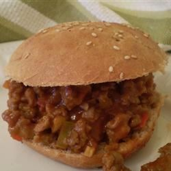 Jeff's Sloppy Joes Recipe - Ground beef and sausage are the main ingredients of this spicy sandwich filling. The heat level can be upped even further by adding hot pepper sauce.