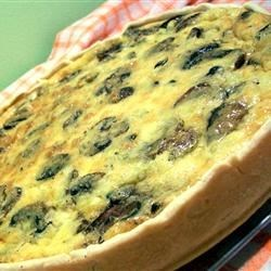 Quiche a la Denise Recipe - A cheese and vegetable quiche that's great for breakfast, lunch or dinner.