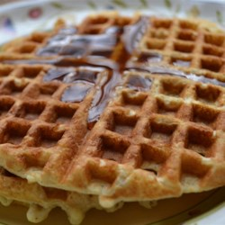 Corny Oatmeal Waffles Recipe - Corn and oatmeal waffles are a wheat- and dairy-free version of waffles that are so flavorful no sweetener is needed!