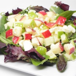 Sweet and Sour Salad Recipe - Apples and feta cheese are a delightful addition to this simple salad.