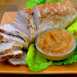 Sweet and Savory Pineapple Pork Loin Recipe - Pineapple pork loin coated in a honey mustard glaze is a sweet and savory main dish that is ready in under 1 hour; serve alongside rice.