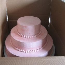 Boxed cake: three sides are already taped up.