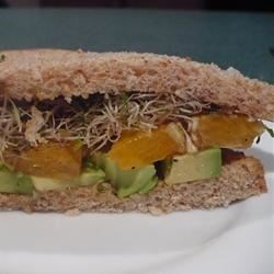 Avocado and Orange Sandwich