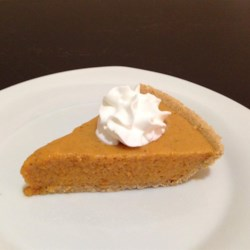 Pumpkin Chiffon Pie Recipe - You will be the hit of your holiday dinner with this Pumpkin Chiffon Pie. It is a recipe that's been in our family for years, but I want to share it so everybody can enjoy it for the Holidays!!!  You will never want to use any other pumpkin pie recipe from now on. A wonderful option is to sprinkle the finished pie with almond toffee brickle chips.