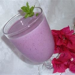 A Very Intense Fruit Smoothie Recipe - Frozen berries and peaches are blended to make a delicious and healthy fruit smoothie.
