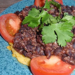 Quinoa Black Bean Tacos (Vegan) Recipe - Quinoa and black beans are simmered in a seasoned tomato broth creating the filling for vegan tacos that carnivores and vegetarians will love.