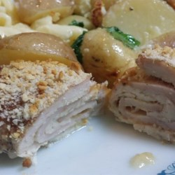 Healthier Chicken Cordon Bleu I Recipe - A classic dish made healthier by using Jarlsberg cheese and whole wheat bread crumbs.