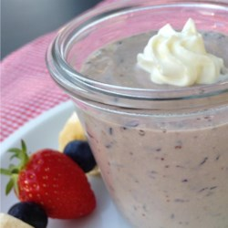 1-2-3 Complete Breakfast Smoothie Recipe - This berry smoothie uses steel cut oats for added heartiness, making a filling breakfast smoothie.