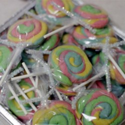 wrapped and tied cookies