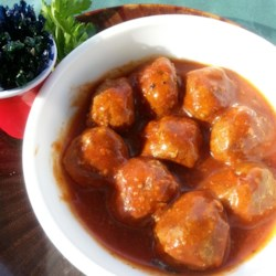 Holiday Buffet Meatballs Recipe - I received this recipe from a dear neighbor many years ago. The meatballs are very good and easy to make and the sauce ingredients are items that you would normally have on hand. If you have the meatballs, you can whip up this appetizer in a snap.