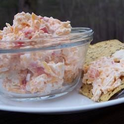 Pimento Cheese Spread With Feta Recipe - Pimentos are mixed with Cheddar and feta cheeses in this mayonnaise based sandwich spread which can double as a snack dip.