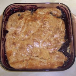 Blueberry Crisp I Recipe - A very easy and delicious dessert recipe that can be used with blueberries, peaches, apples or most any other of this type fruit. After it cooks it has a beautiful crust on top.
