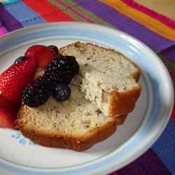 A nice little snack of Banana Bread and berries to fuel up for the next leg!