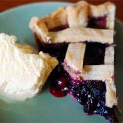 Blueberry Pie Recipe and Video - There is nothing to beat a fresh blueberry pie. It doesn't need much: sugar, a bit of cornstarch to thicken all the nice juices and cinnamon. It's perfect with fresh berries, but still mighty fine with frozen ones.