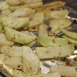 Roasted Kohlrabi Recipe - Kohlrabi is simply roasted with garlic and Parmesan cheese.