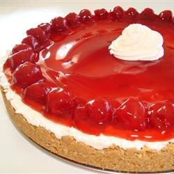 Unbaked Cherry Cheesecake