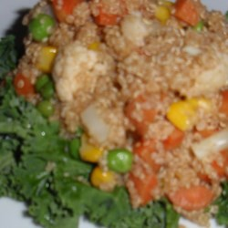 Healthy Quinoa Salad Recipe - Quinoa is tossed with steamed vegetables in a light vinaigrette in this quick and easy recipe for quinoa salad.