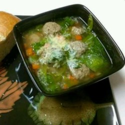 Chef John's Italian Wedding Soup Recipe - Don't wait for a wedding to make this delicious and comforting soup with kale, tiny pasta, and tender little beef meatballs.